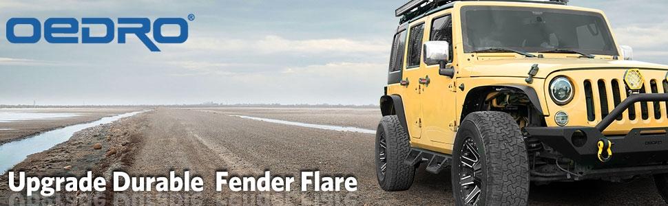 oedro fender flare for wrangler jk banner
