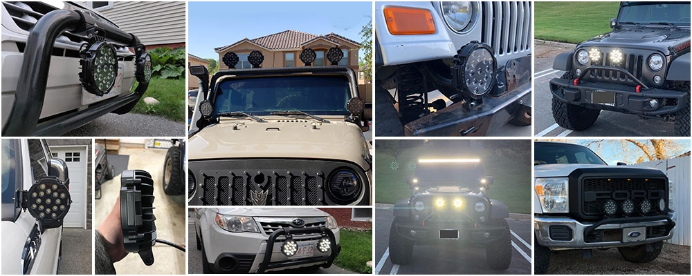 7 inch led light bar review pictures