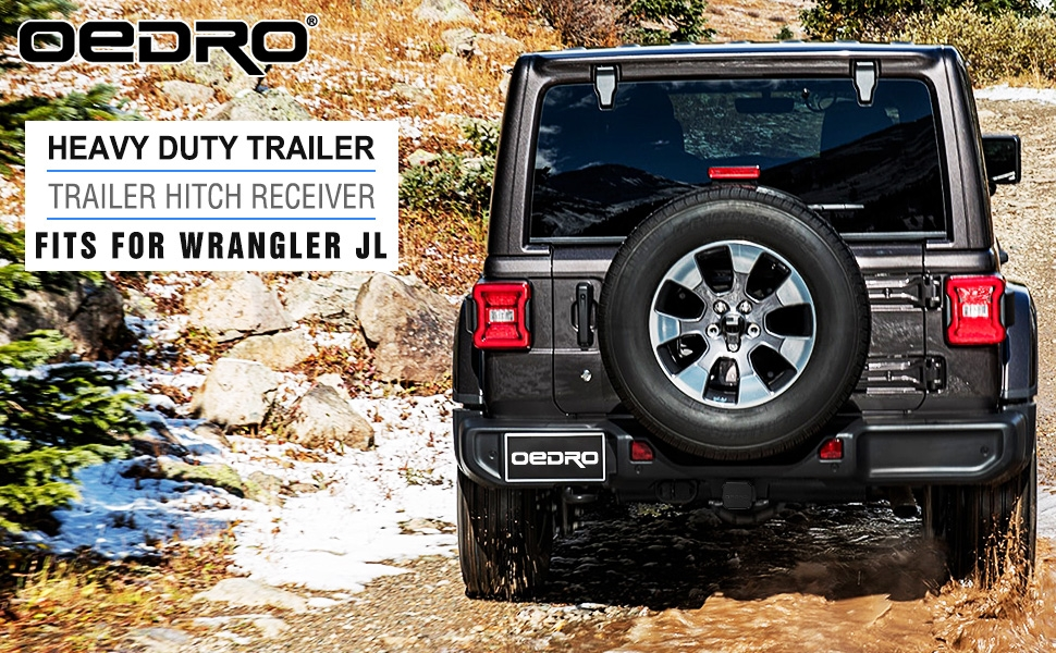 2 inch Trailer Hitches with Wiring Harness for Jeep Wrangler JK | OEDRO®
